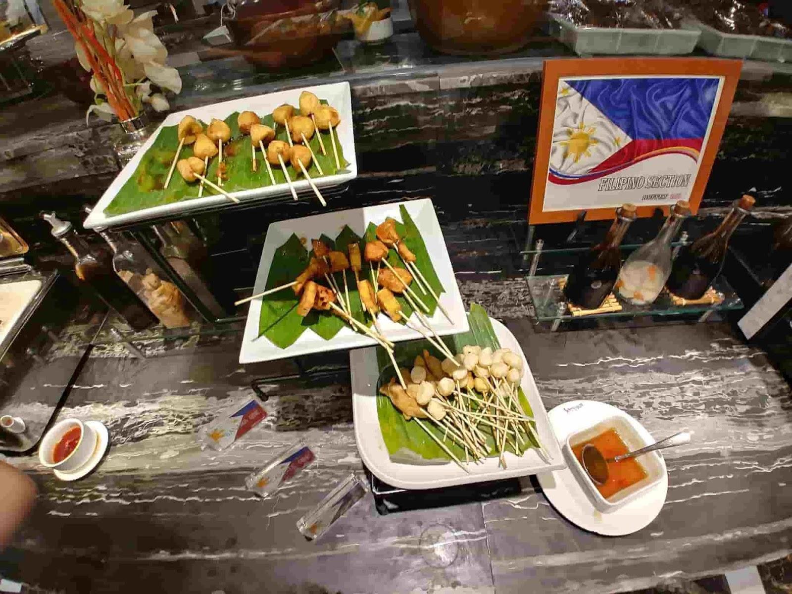 Filipino street food station at Buffet 101 Restaurant