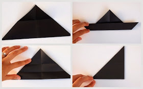 steps 5-8 to make origami cat