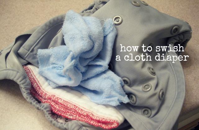 swishing a prefold diaper