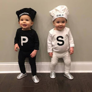 Costume for twins featuring Salt and Pepper.
