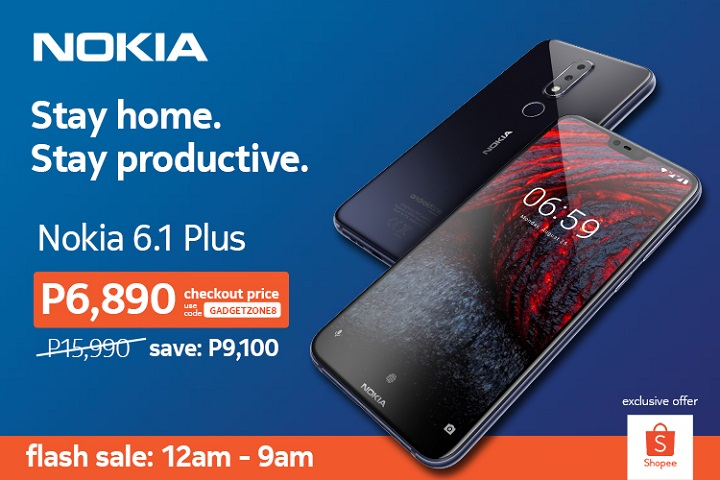 FLASH SALE: Nokia 6.1 Plus gets over 50% OFF on Shopee