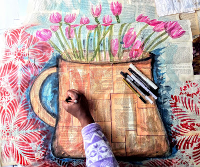 Tulip Painting by Miabo Enyadike