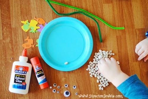 Director Jewels Paper Plate Fish Aquarium Preschool Craft
