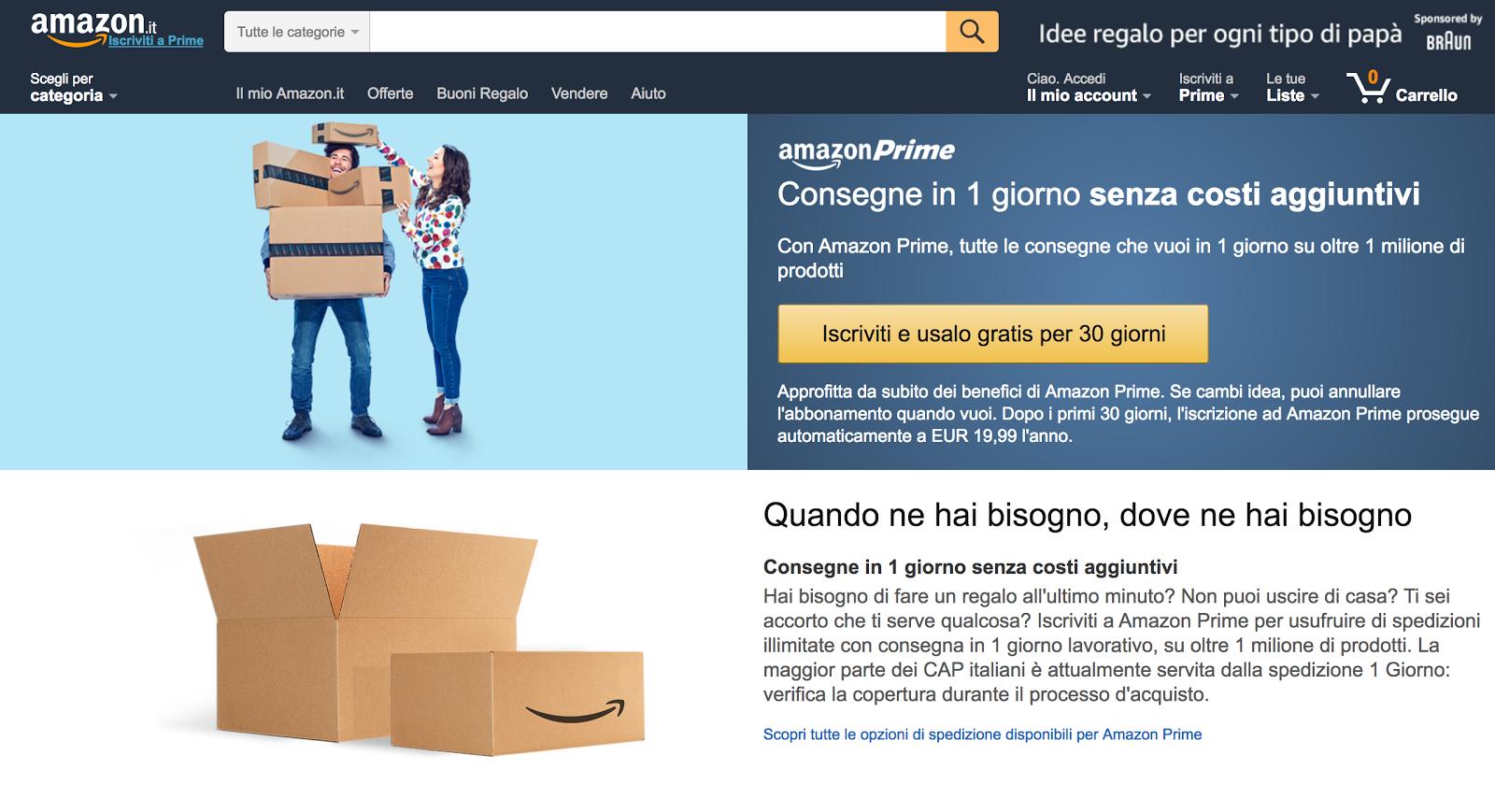 Perché avere Amazon Prime