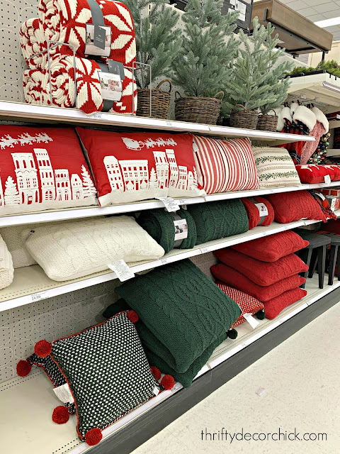 Cable knit pillows for Christmas