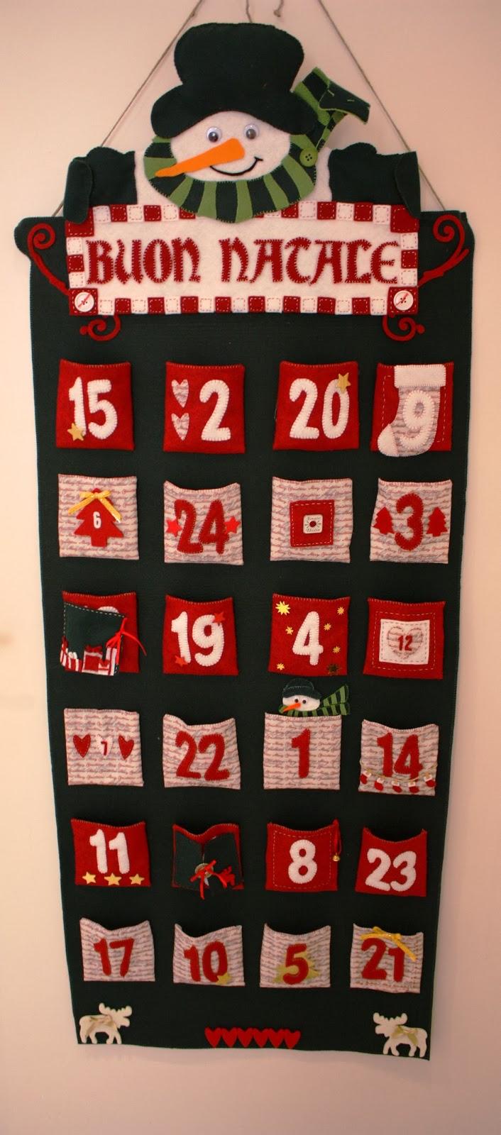 Calendario Dellavvento In Feltro.Believe Calendario Dell Avvento Natalizio