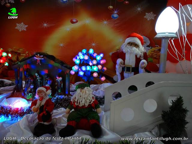 Mesa decorativa de Natal