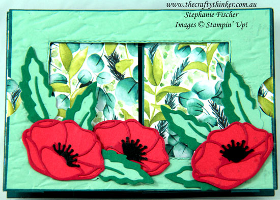 #thecraftythiner #stampinup #cardmaking #funfold #theatrecard #poppymoments , fun fold, Theatre Card, Poppy Moments, Stampin' Up Demonstrator, Stephanie Fischer, Sydney NSW