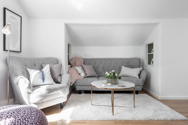 Apartament de 66 m² cu al doilea dormitor amenajat în dulap