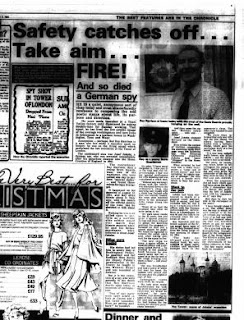Evening Chronicle - 1984 11 07 Interview with Roy Alan Harrison former member of Josef Jakobs' firing squad.