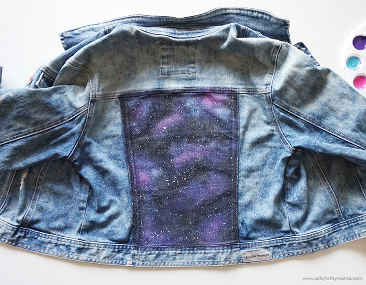 DIY Galaxy Jacket White Splatter Layer