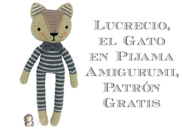 Lucrecio, gatito en pijama amigurumi