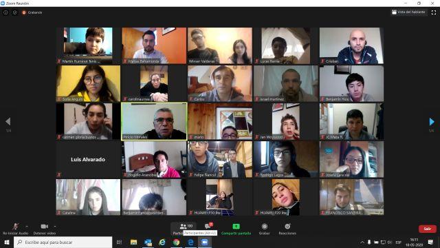Videoconferencia entre deportistas y técnicos de Los Lagos