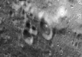 Alien Dome In Crater On Moon, NASA PHOTO!
