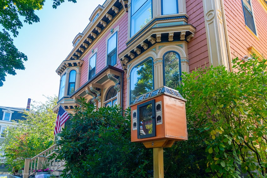 Portland, Maine USA October 2019 photo by Corey Templetob, One of my favorite little free libraries, on Pine Street in the West End.