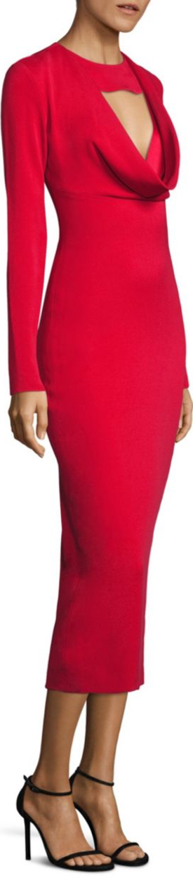 Cushnie et Ochs Rhys Woven Dress in Poppy