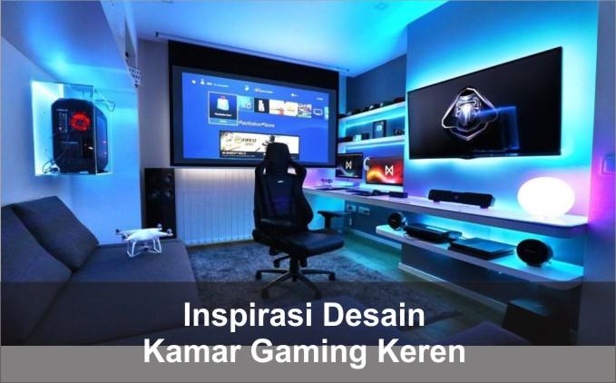 desain kamar gaming keren