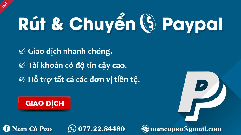 Dịch vụ rút tiền và chuyển tiền hộ trong paypal