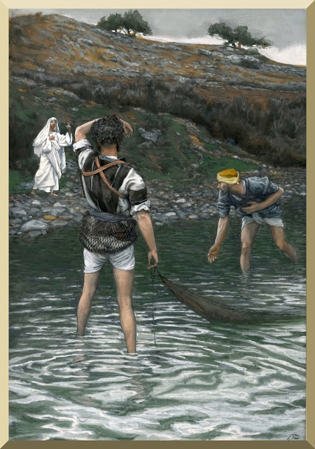 """The Calling of Saint Peter and Saint Andrew"" -- by James Tissot"