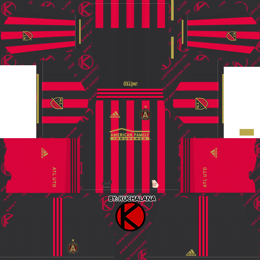 sale retailer ae0a0 6012e Atlanta United 2019 Kit - Dream League Soccer Kits - Kuchalana