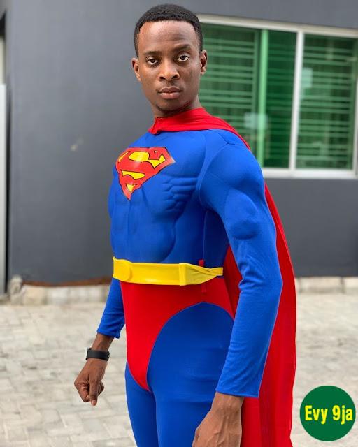 Sydney talker funny super Man outfit