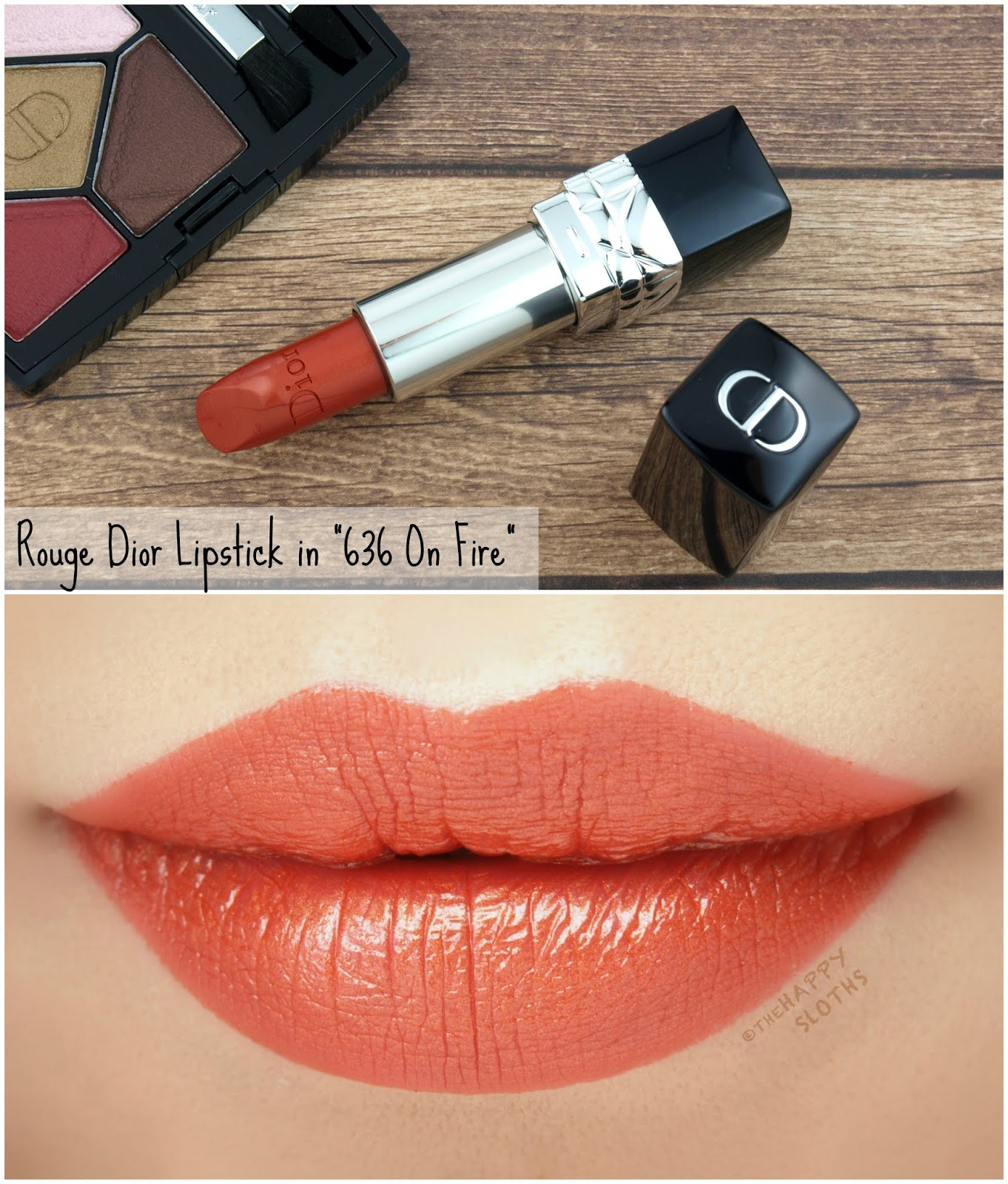 "Dior Fall 2018 Dior en Diable Collection | Rouge Dior Couture Colour Lipstick in ""636 On Fire"": Review and Swatches"