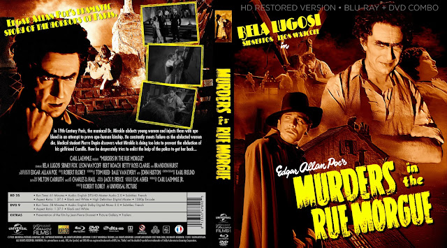 Murders In The Rue Morgue Bluray Label