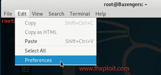 cara membuat nama di terminal kali linux