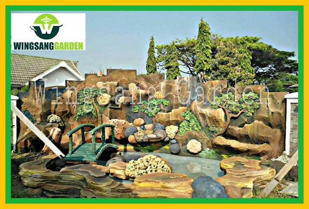 Tukang Kolam Tebing Air Terjun Mojokerto | Jasa Tukang Kolam Dekorasi Relief Tebing Di Mojokerto