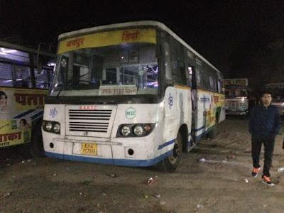 Bus yang digunakan menuju Jaipur