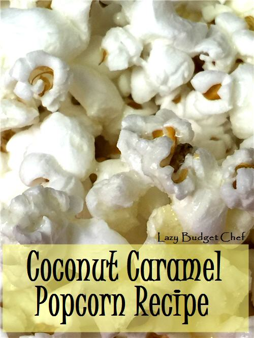 how to make coconut caramel flavored popcorn at home
