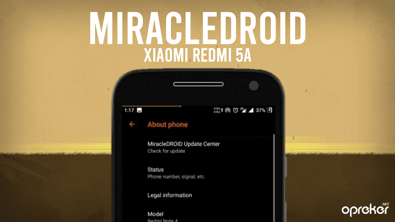 ROM MiracleDroid v1.0 Unofficial untuk Xiaomi Redmi 5A