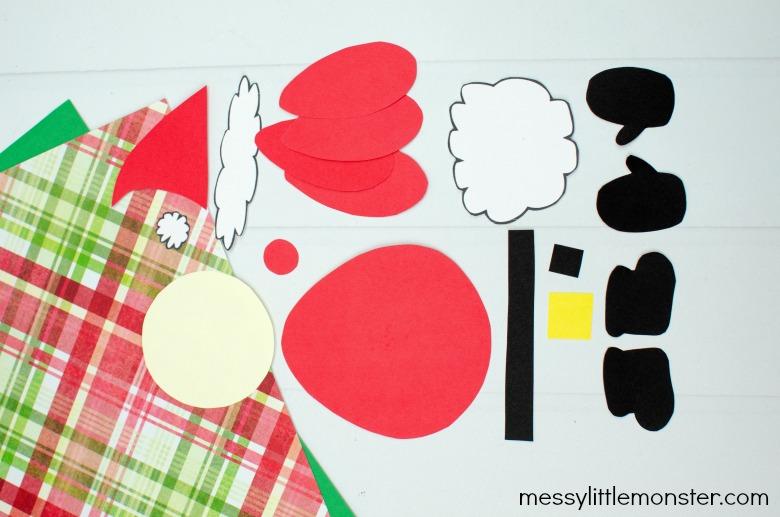 Mix and match Santa craft template