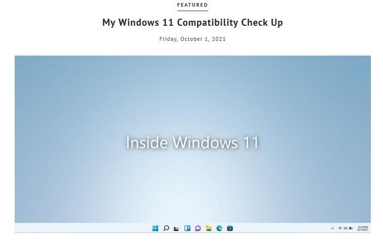 Windows 11 Compatibility Check Up