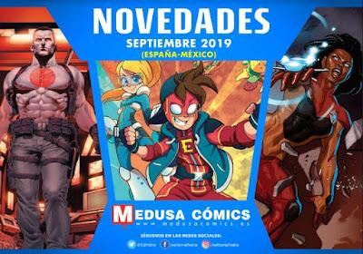 """Novedades septiembre 2019 de """"Medusa Cómics""""."""