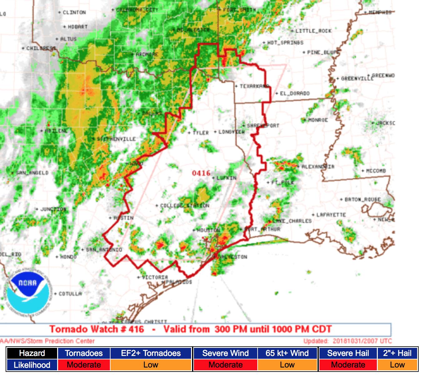 Map Of Texas Oklahoma And Louisiana.Mse Creative Consulting Blog Tornado Watch E Texas W Louisiana