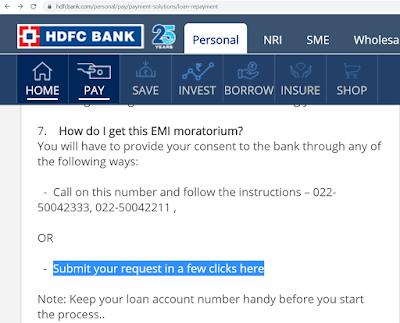 HDFC बैंक की EMI दो महीने रोकने के लिए क्या करें, HDFC BANK Ki EMI Moratorium Ka Kaise Phayda Uthaye