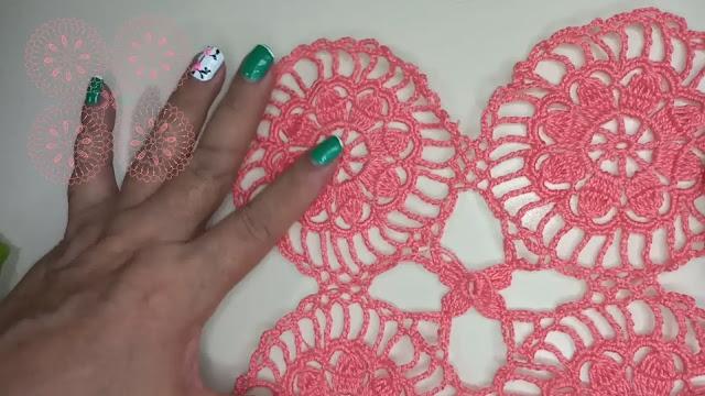 Patrón paso a paso de motivo para blusa a crochet