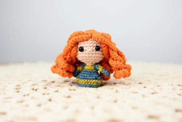 Valiente: Mini Princesa Merida Tejido a Crochet