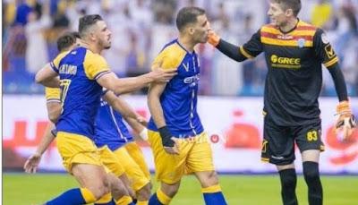 مباراة النصر وضمك ضمن مباريات الدوري السعودي 2019