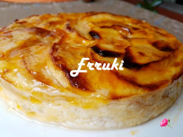 Flan de manzana