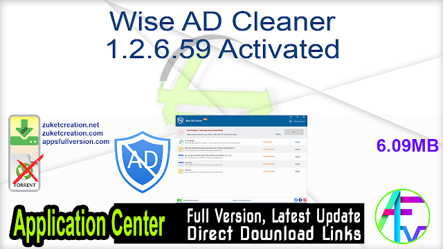 Wise AD Cleaner 1.2.6.59 Activated