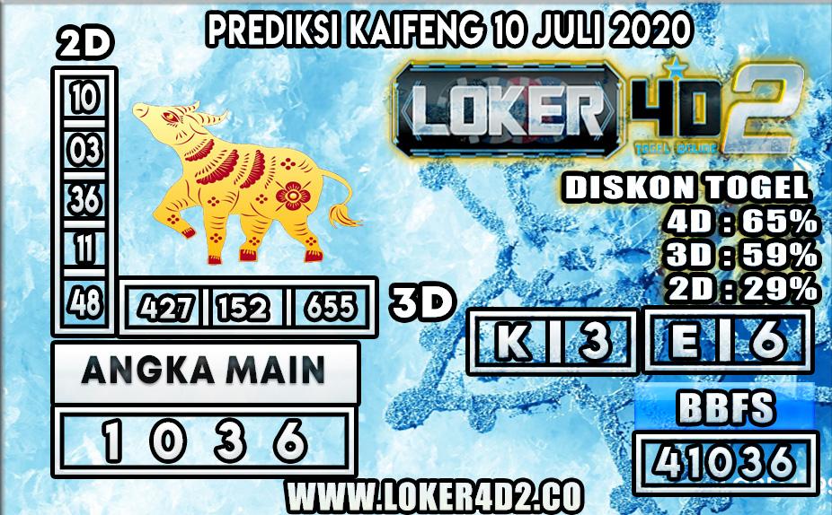 PREDIKSI TOGEL KAIFENG  LOKER4D2 10 JULI 2020