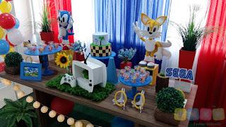 Decoração de festa infantil Sonic