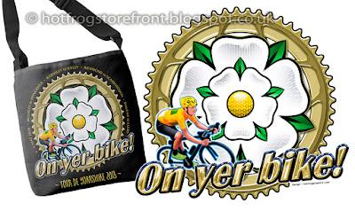 image of shoulder bag and logo for Tour de Yorkshire