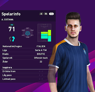 PES 2020 Faces Andrea Cistana by Emilang