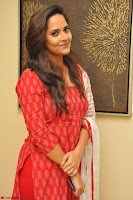 Anasuya Bharadwaj in Red at Kalamandir Foundation 7th anniversary Celebrations ~  Actress Galleries 025.JPG