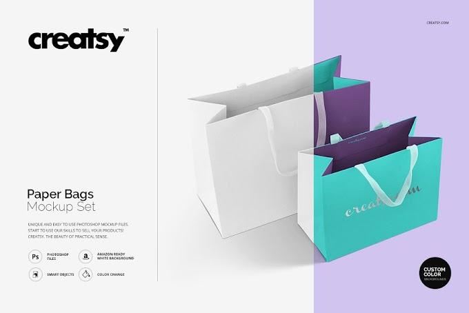 20 Best Design Paper Bag Mockup
