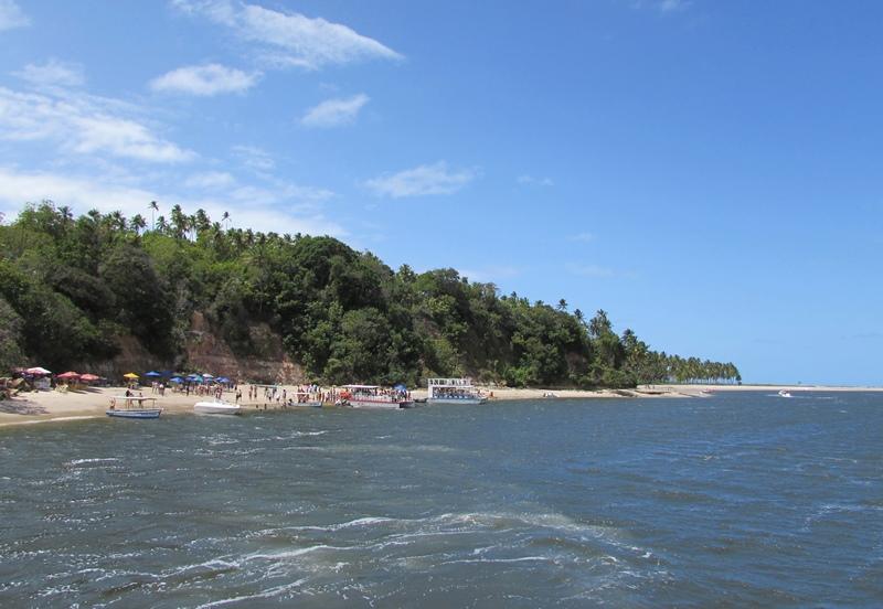 Passeio de Catamarã, Praia de Guadalupe, banho de argila