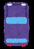上から見た自動車のイラスト(紫)